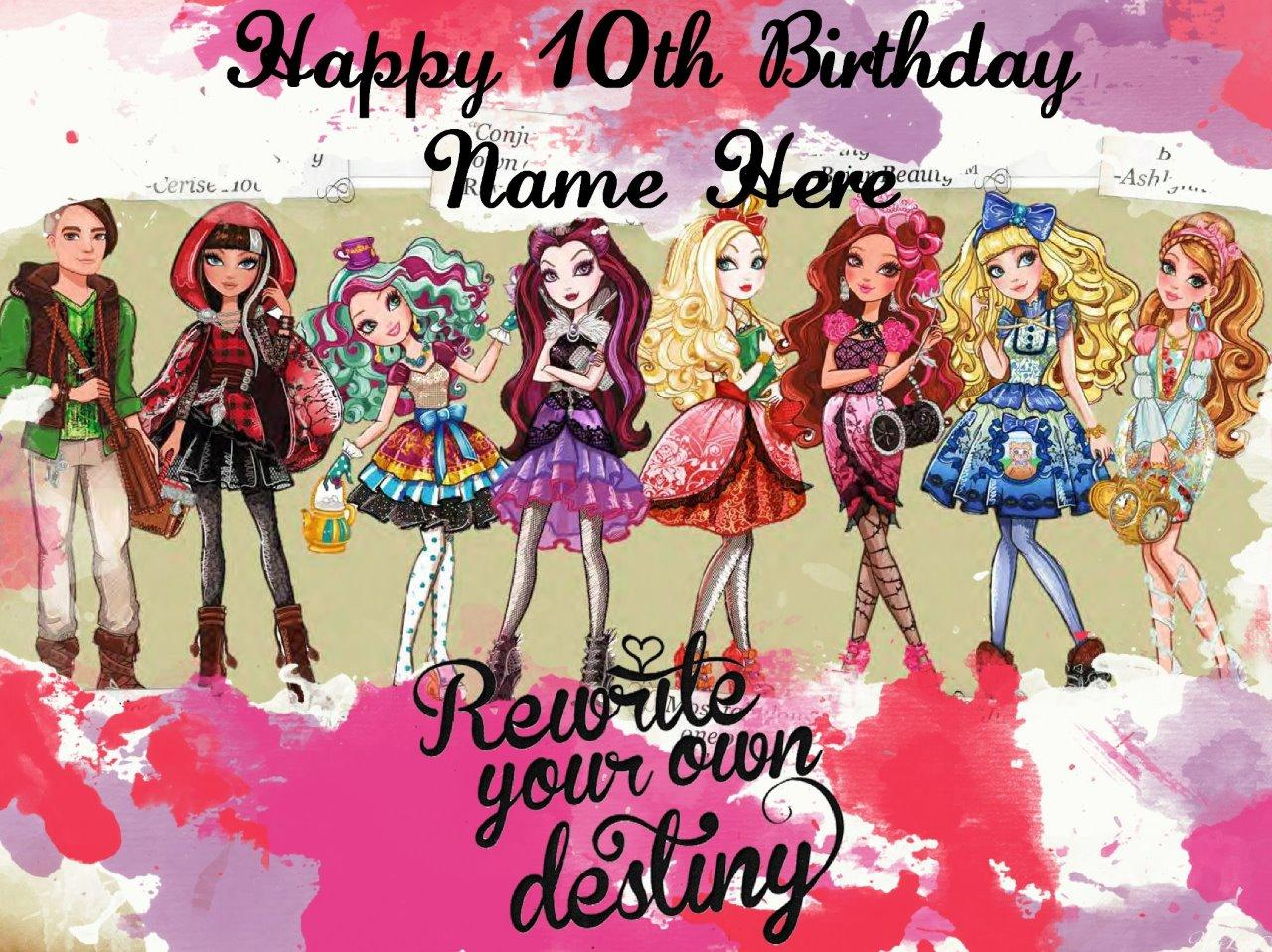Ever After High edible icing cake toppers. View 3 images ...