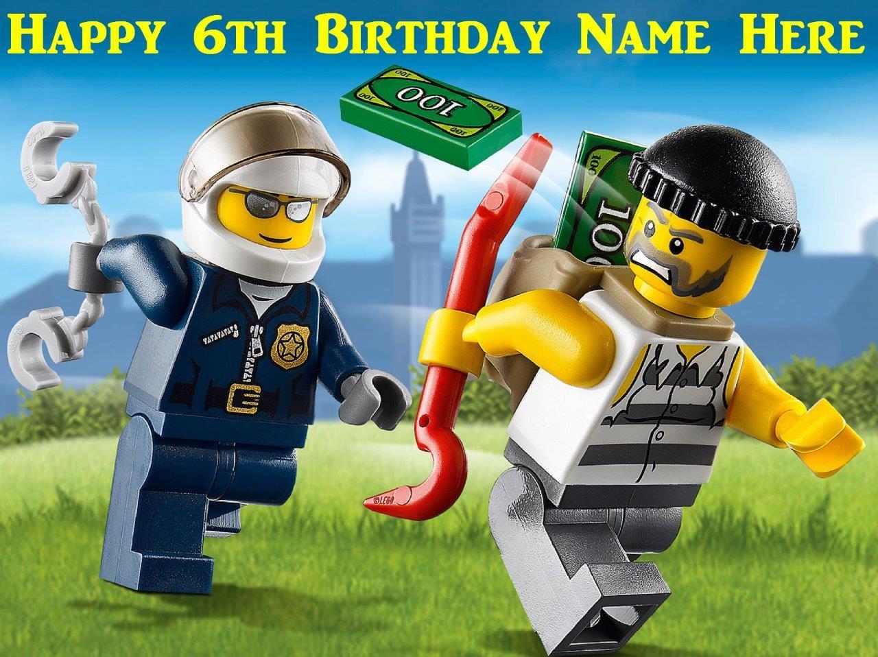 Lego Police Cake Topper