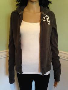 dark gray polo shirt  dark gray/green zip up