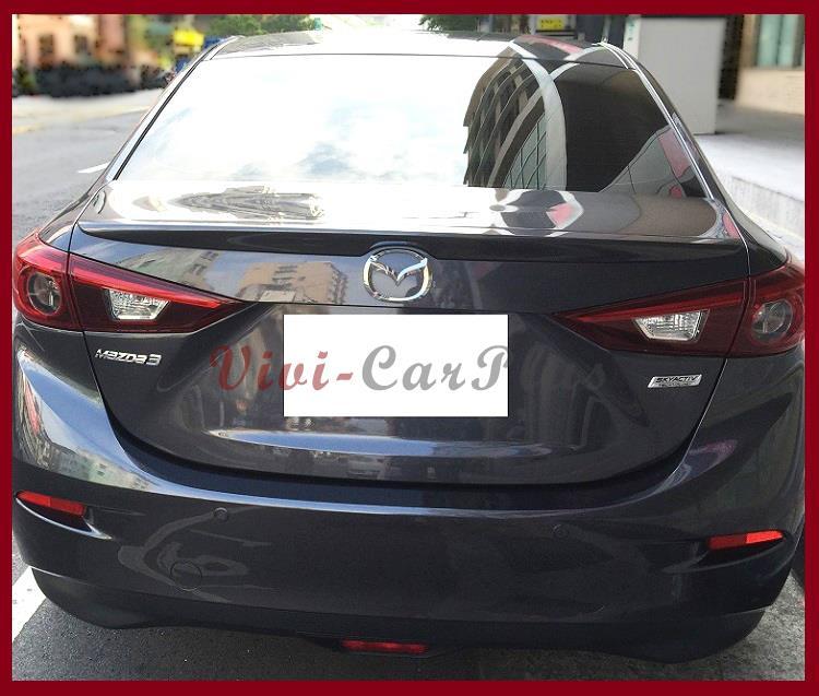 2008 Mazda6 4 Door Oem Style Spoiler: UNPAINTED 2014-2016 MAZDA 3 3RD Sedan 4DR OE Type Trunk Spoiler Add On Lip Wing