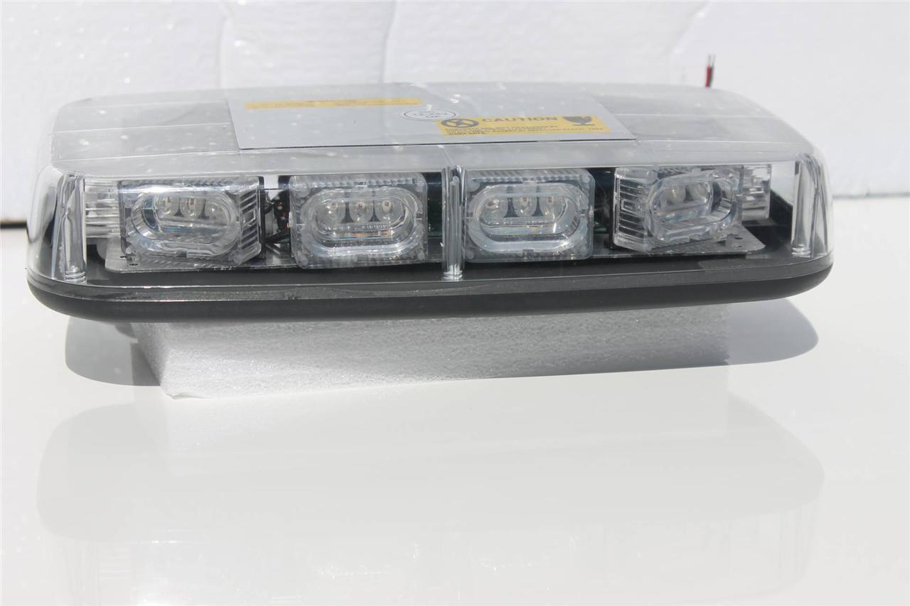 LED-Amber-Light-Bar-30-Watt-Epistar-LEDs-Magnet-or-Bolt-Down-Bases