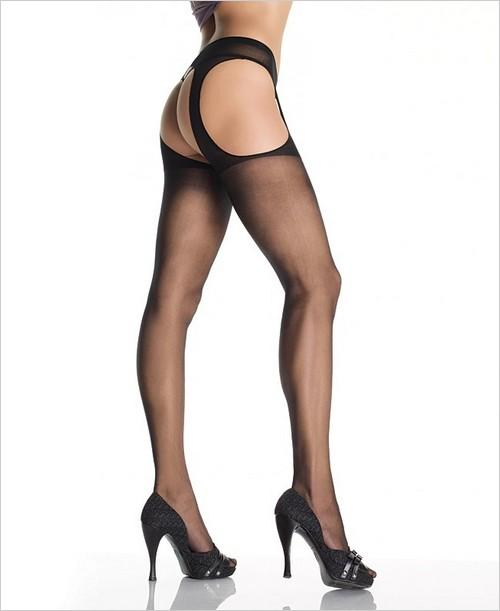 VARIOUS COLOURS & SIZES Sheer Nylon Suspender Tights/Crutchless Panty Hose BNIP