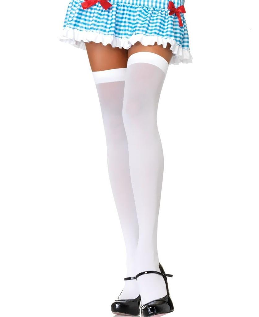 VARIOUS-Sex-y-Opaque-Hold-Up-Stockings-Adult-Fancy-Dress-Shop-Over-The-Knee