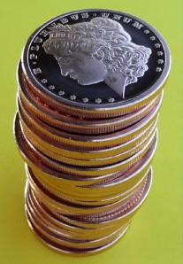 2011 MORGAN HEAD ROLL 20 .999 1oz Copper Bullion Coins* 20 Frosty Deep