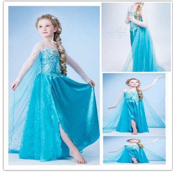 hot robe d guisement costume la reine des neiges frozen elsa anna enfant fille ebay. Black Bedroom Furniture Sets. Home Design Ideas