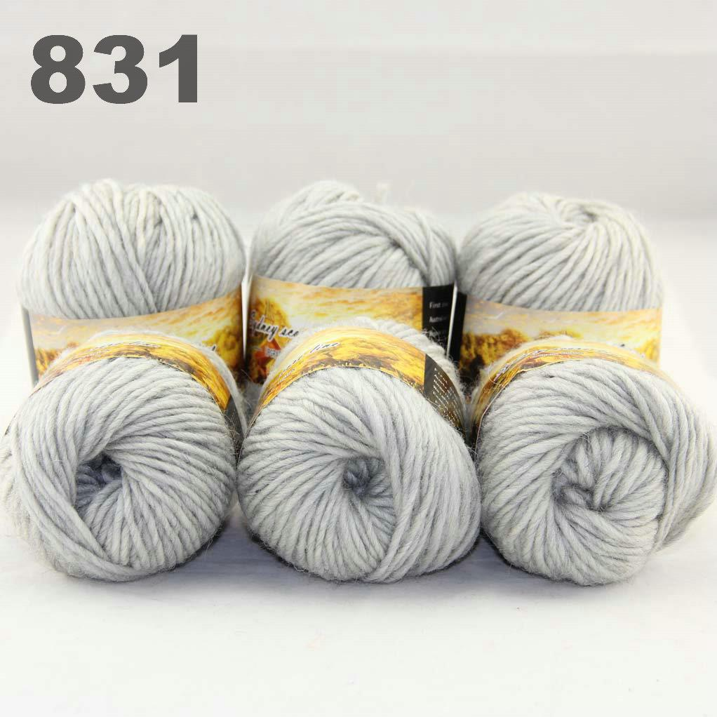 ... 6Skeinsx50gr-NEW-Chunky-Hand-woven-Colors-Knitting-Scores-wool-yarn-C