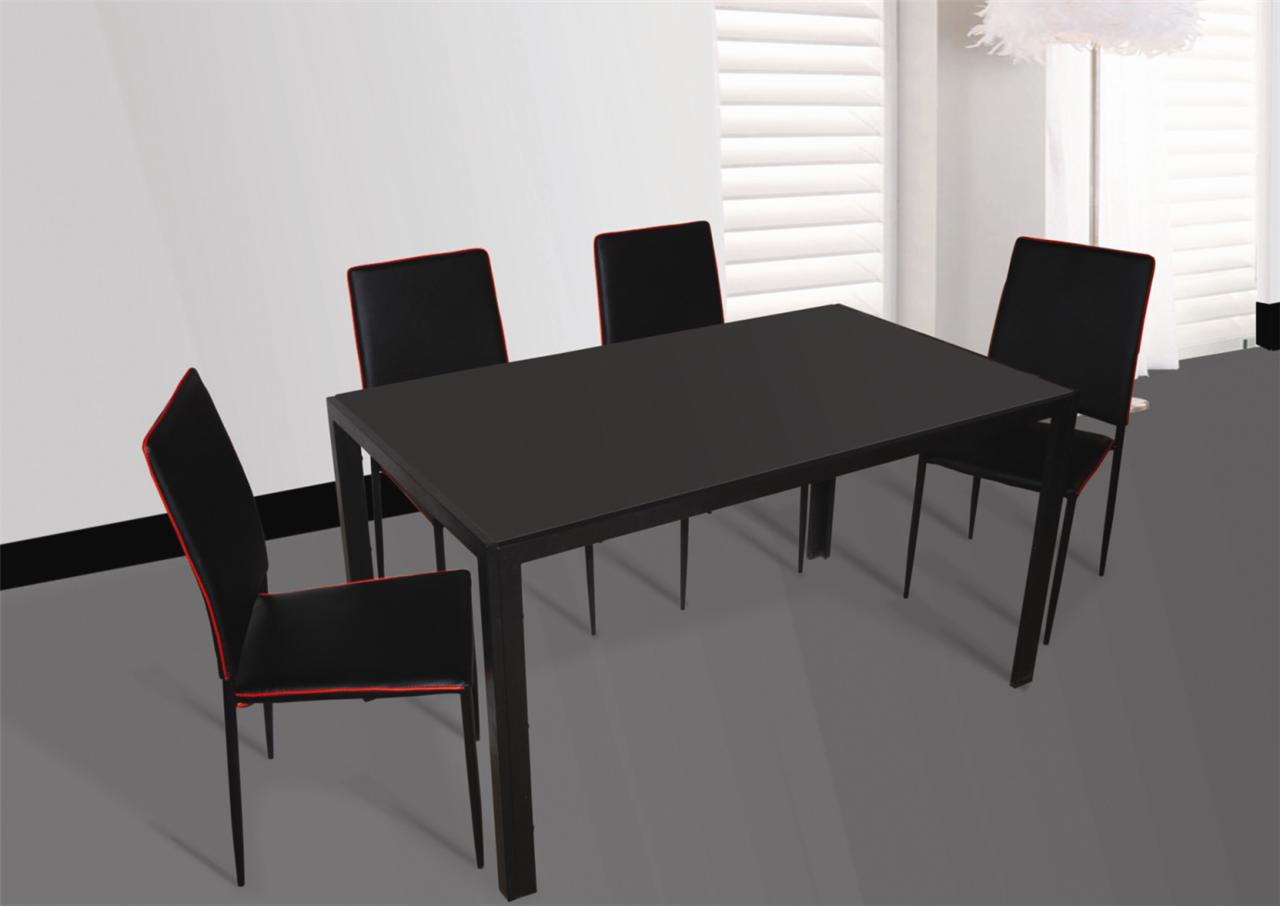 Glass Multi Colour Dining Table And 4 Chairs Sales EBay