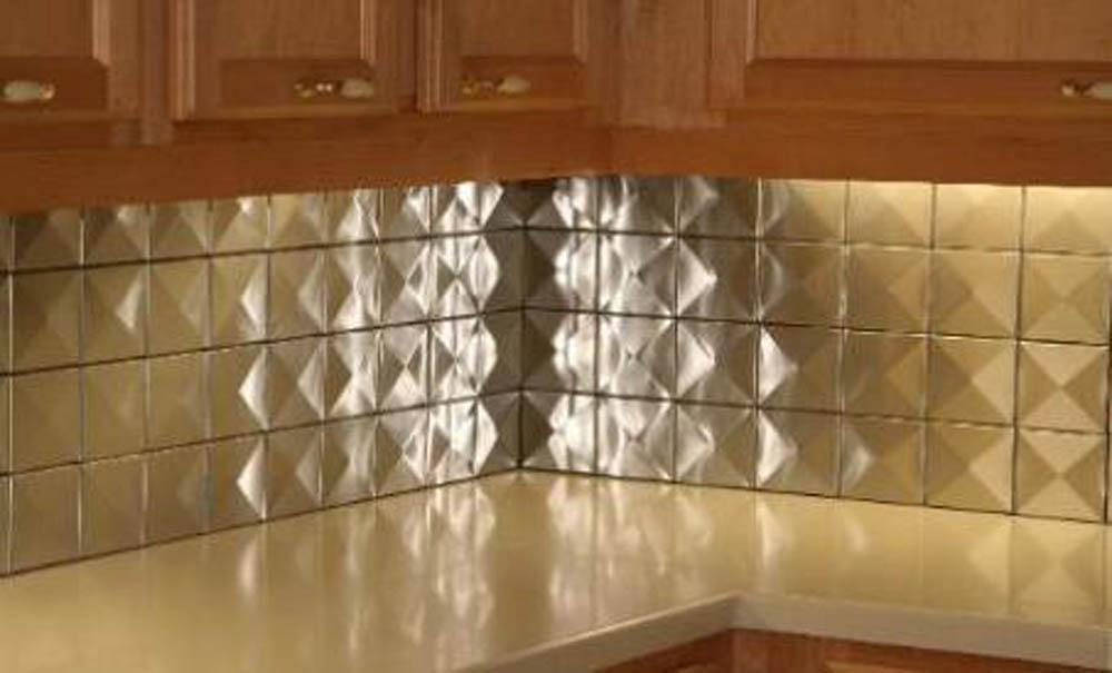 5sf 4 x4 3d stainless steel metal backsplash wall tiles