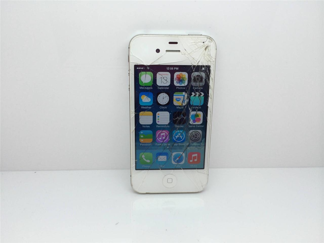 Details about Apple iPhone 4 - 8GB - White (Verizon) Smartphone dj024