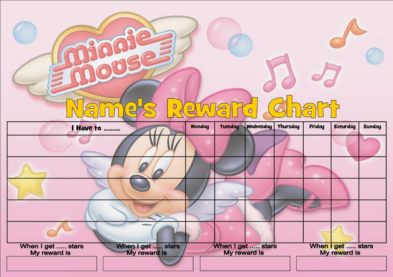 Minnie Mouse Pink Potty Training Chart And Free By T