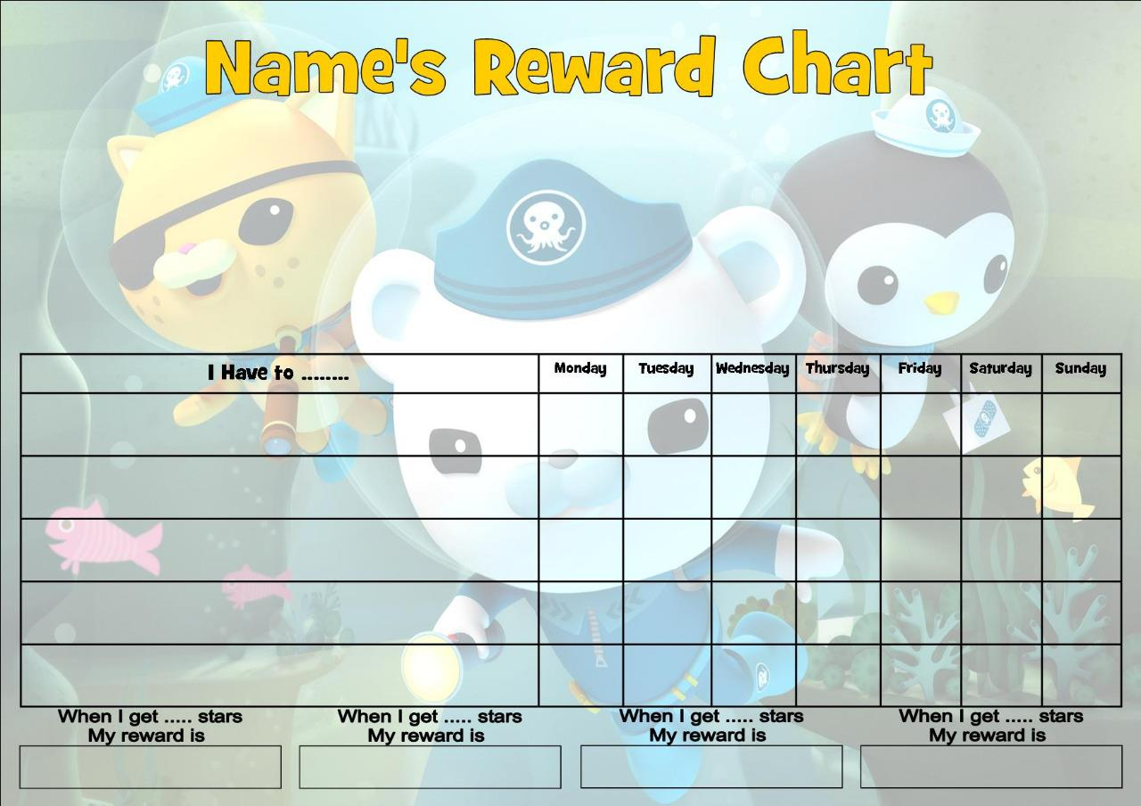 Octonauts Job Behavior Reward Homework Chart Free Pen