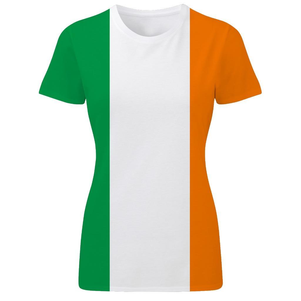 irish tricolour ireland flag st patrick s day patriotic womens t