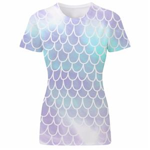 Fish mermaid scales summer holiday novelty animal print for Fish scale shirt