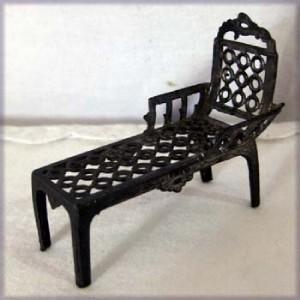 Antique french metal dollhouse chaise simon et rivollet c1900 chair france an - Chaise metal vintage ...