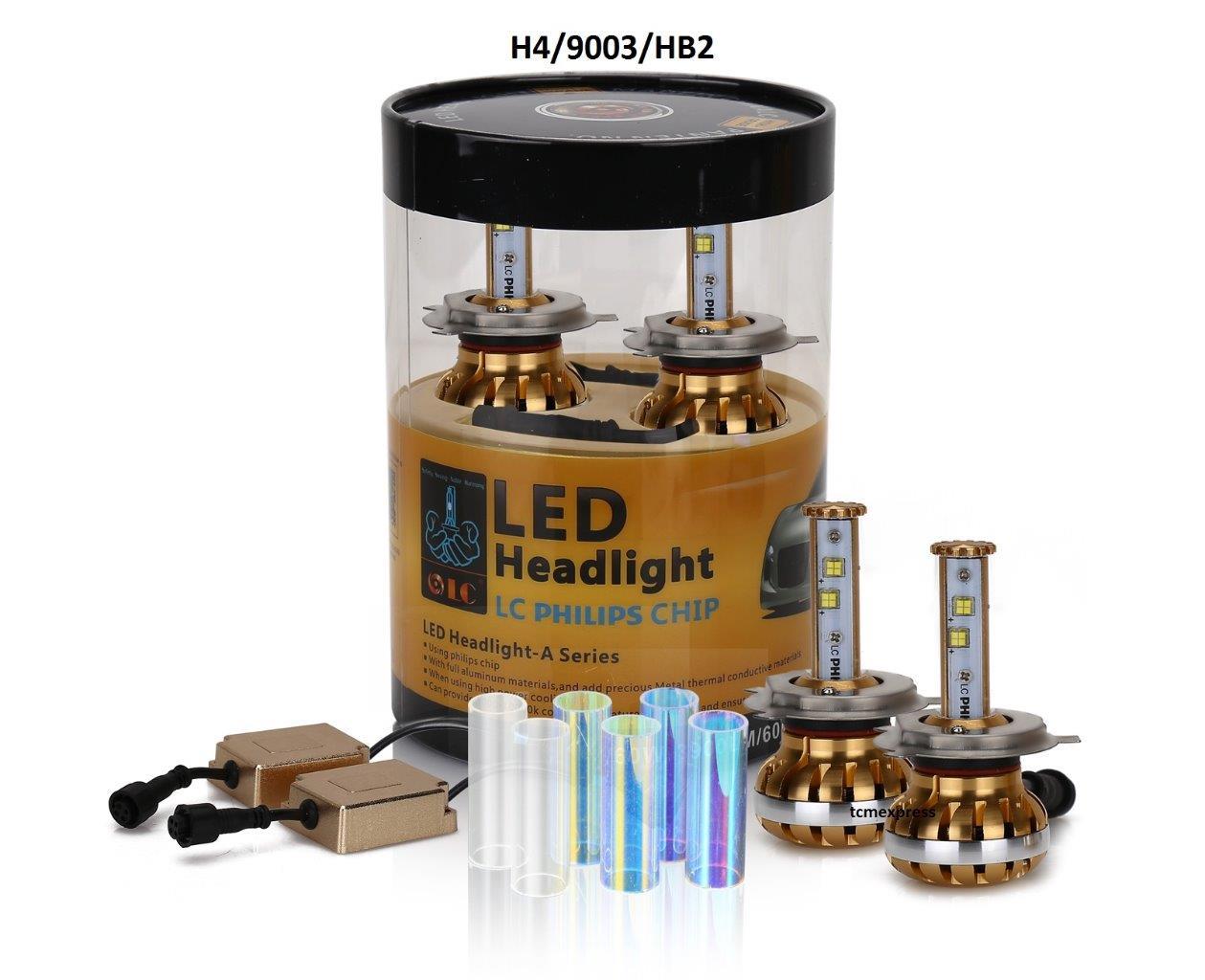 diy 3 colors philips led headlight kit bulb h4 9003 9007. Black Bedroom Furniture Sets. Home Design Ideas
