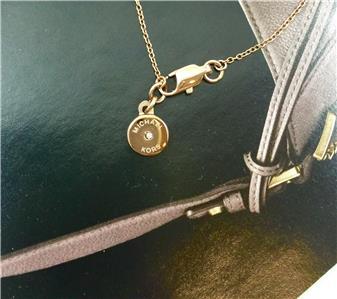 new michael kors halskette pave disc rose gold tone blush. Black Bedroom Furniture Sets. Home Design Ideas
