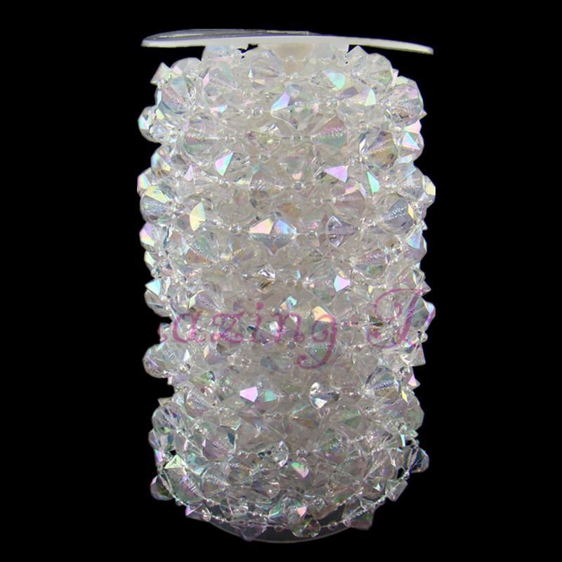 Product name 18m 59ft iridescent garland diamond gemstone for Acrylic decoration