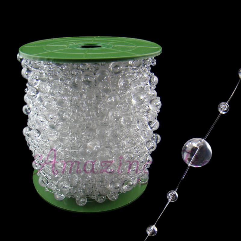 Crystal Bead Beads: 99ft / 30m Clear Acrylic Crystal Beads Strand Wedding