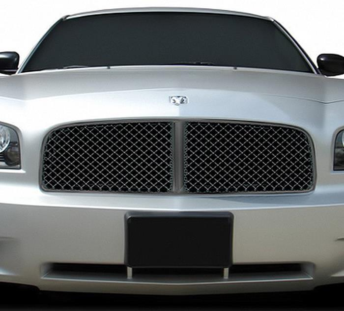 2005 2010 dodge charger black mesh honeycomb sport hood. Black Bedroom Furniture Sets. Home Design Ideas