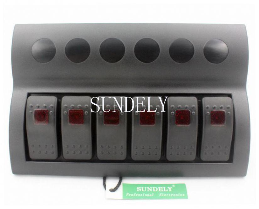Fuse Box Switch Is Red : New gang waterproof red led lights rocker switch panel
