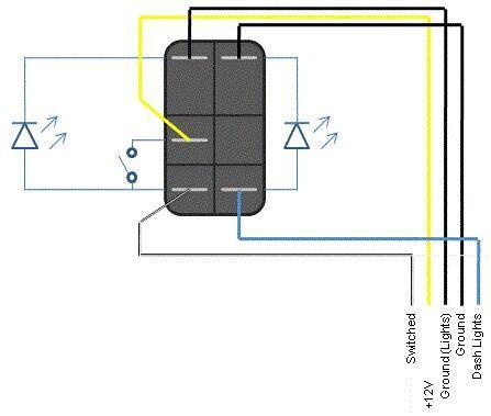 new carling style rear window wiper rocker switch blue led 4x4 4wd on switch ebay