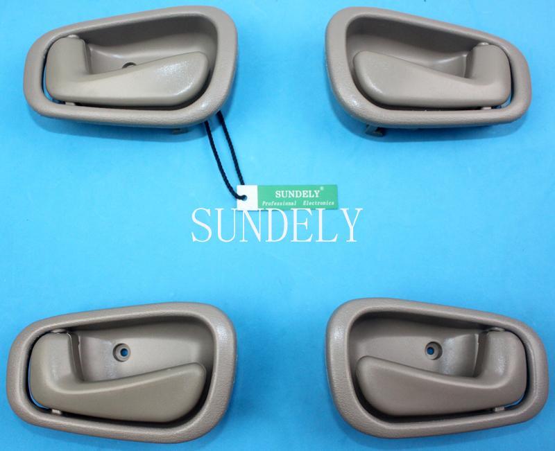4pcs Beige Inside Door Handle Fit For Toyota Corolla 1998 1999 2000 2001 2002 Ebay
