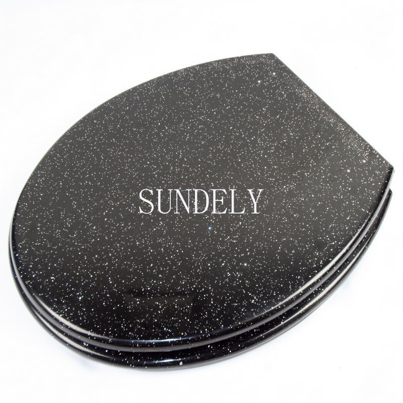 glitter black resin modern bling toilet seat with fittings. Black Bedroom Furniture Sets. Home Design Ideas