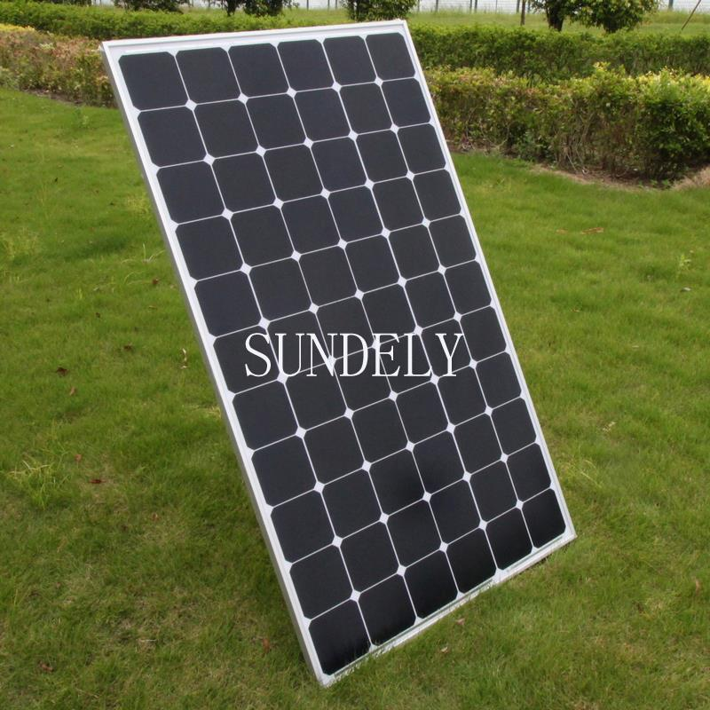 Solar Panel Yearly Savings: 200W Watt Framed 12V Monocrystalline Solar Panel Energy