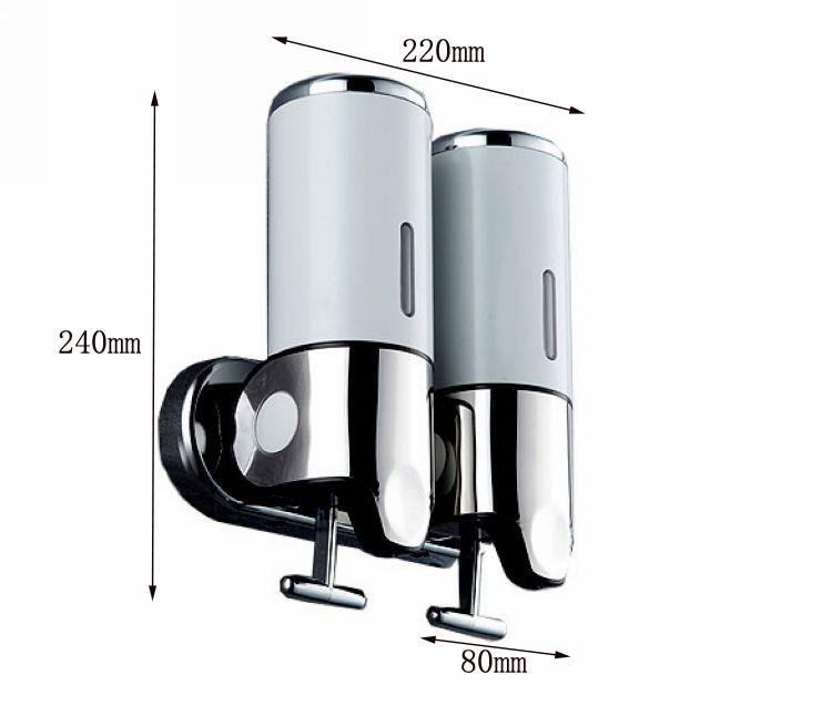 Wall mounted shower soap dispenser lockable shampoo conditioner shower gel ebay - Wall mounted shampoo conditioner dispenser ...