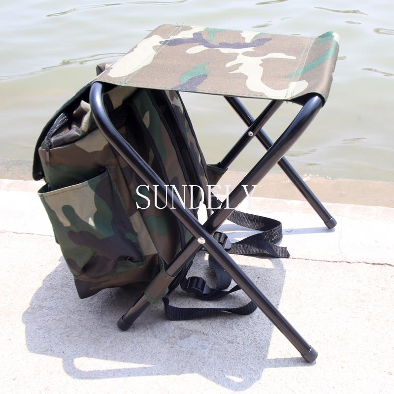 Camping fishing rucksack backpack seat chair camouflage color for Fishing backpack chair