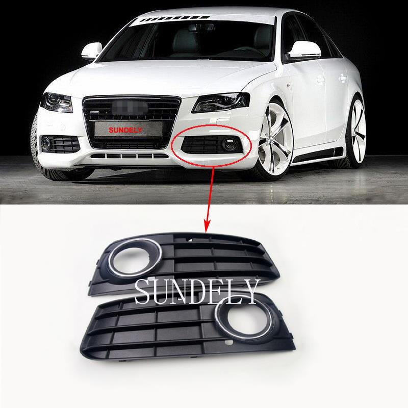 1 pair front bumper fog light grille cover for audi a4 a4l. Black Bedroom Furniture Sets. Home Design Ideas