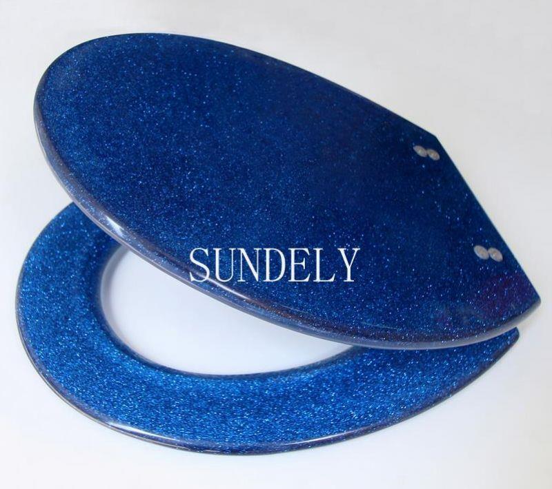 new glitter blue sparkle resin toilet seat sparkle resin. Black Bedroom Furniture Sets. Home Design Ideas
