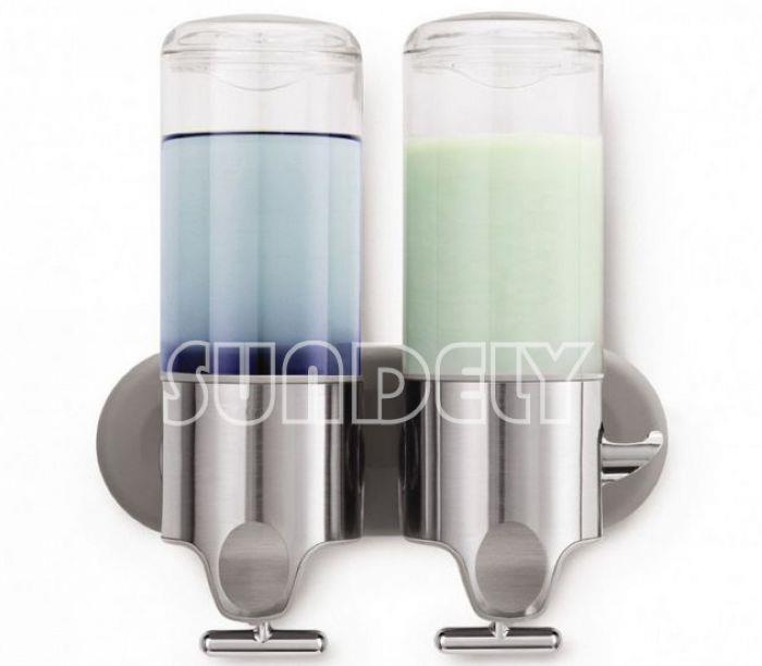 Sundely salle de bain mural montage douche shampoing liquide savon distributeur - Distributeur de gel douche mural ...