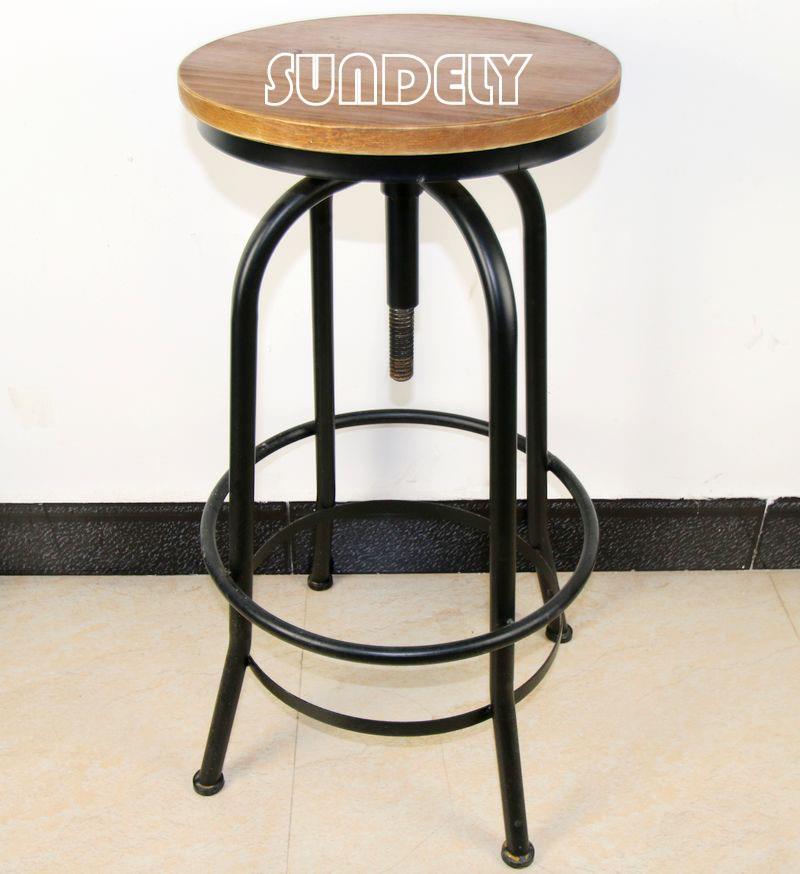 new bar stool urban vintage industrial retro adjustable height retro ebay. Black Bedroom Furniture Sets. Home Design Ideas