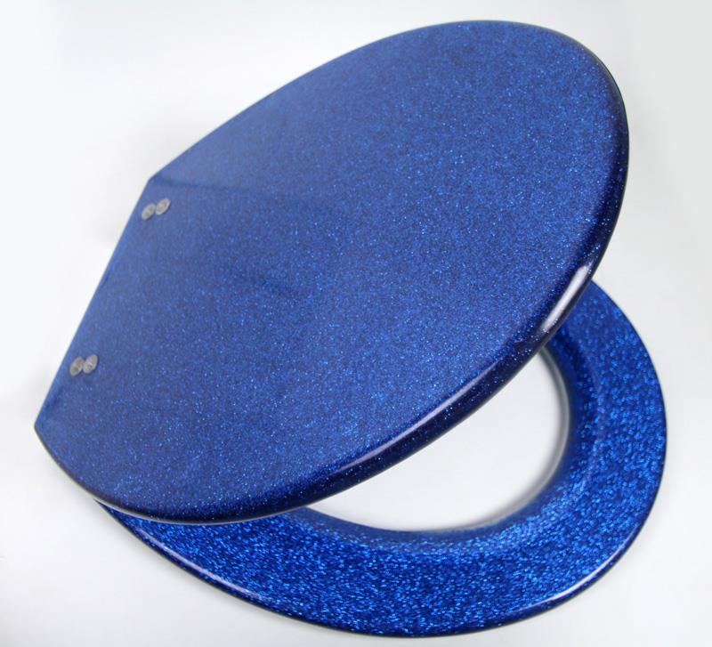 glitter silver balack sparkle resin toilet seat. Black Bedroom Furniture Sets. Home Design Ideas