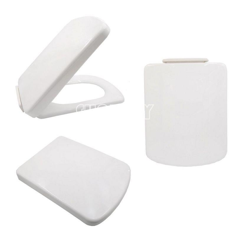 NEW SQUARE SLOW CLOSING ANTI SLAM SOFT CLOSE WC TOILET SEAT BOTTOM FITTING