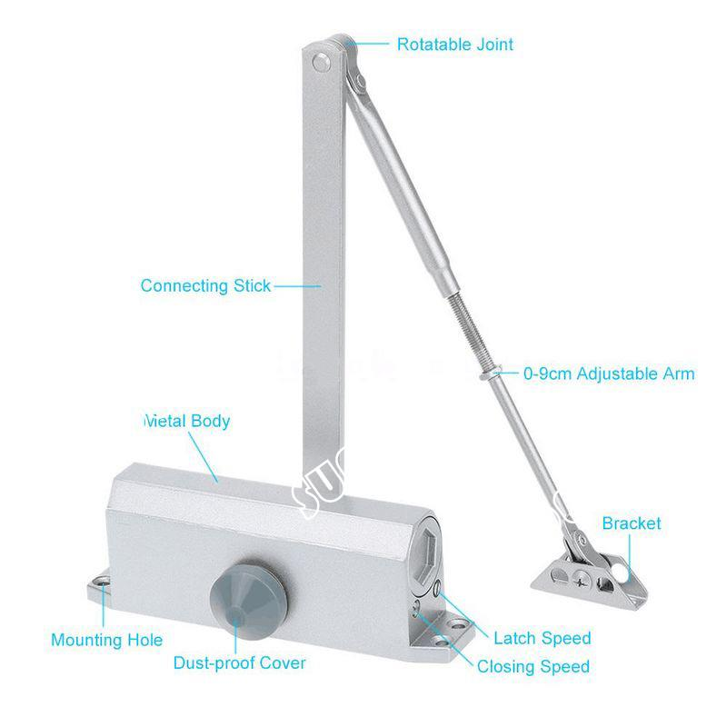 Hydraulic Arm Door Detail : New durable auto hydraulic arm door closer mechanical