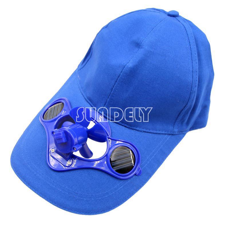 summer outdoor solar sun power hat cap cooling cool fan