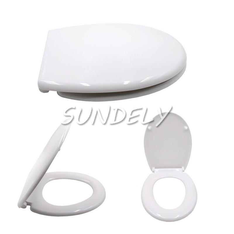 WHITE ROUND SLOW CLOSING ANTI SLAM SOFT CLOSE WC TOILET SEAT TOP FITTING EBay