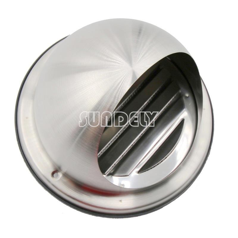 Stainless Steel Wall Air Vent Round Metal Insect Grille