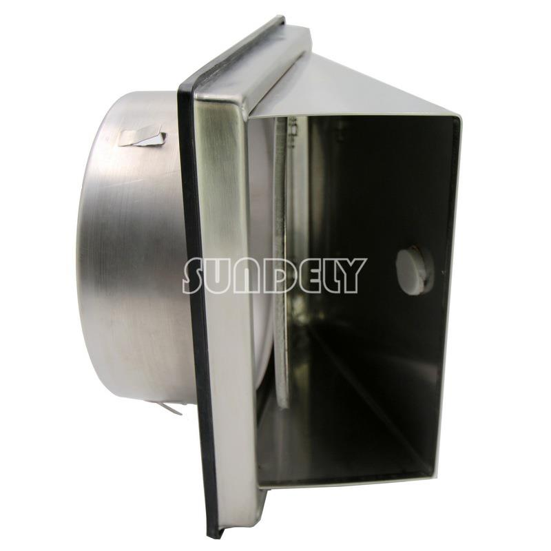 Stainless steel cooker hood extractor outside wall air