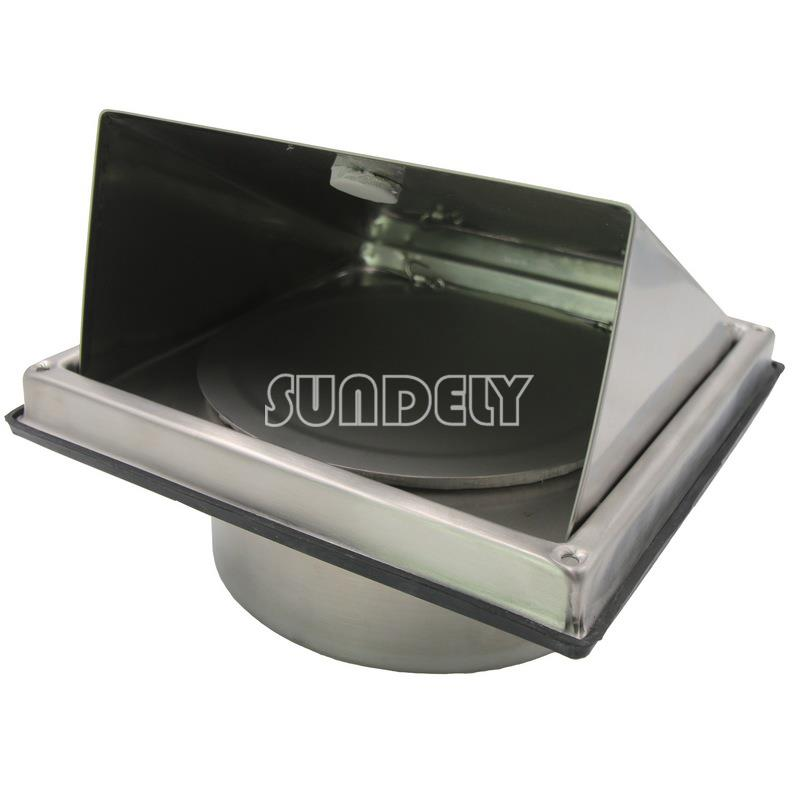 Stainless Steel Cooker Hood Extractor Outside Wall Air Vent Cowl Hood Outlet