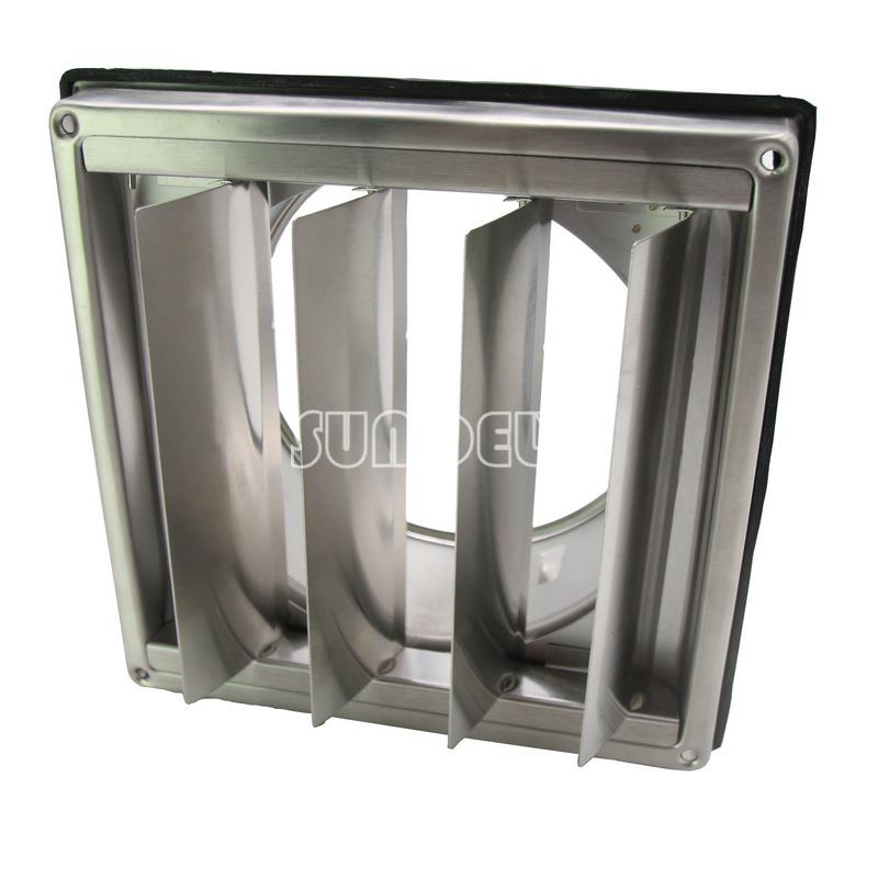 Stainless Steel Wall Air Vent Square Bathroom Extractor Outlet Gravity Flaps