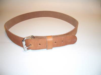 Leather Work Belt Heavy Duty Big Mens Belt 1 1 2 Quot Wide 62