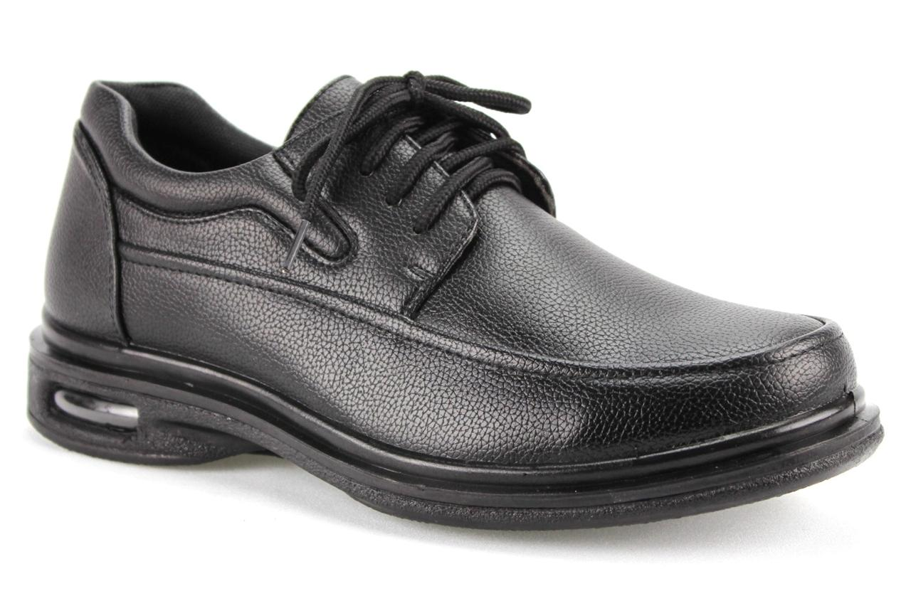 Menu0026#39;s Black Restaurant Work Shoes Lace Up Slip U0026 Oil Resistant Air Sole WC12005 | EBay
