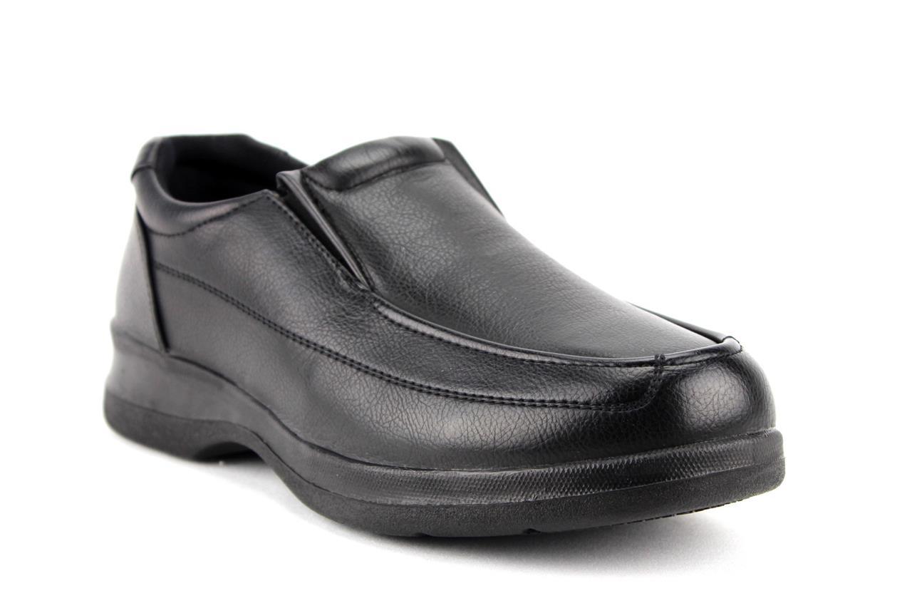 Menu0026#39;s Black Brown Slip On Restaurant Work Shoes Slip Oil Resistant WZ14027 | EBay