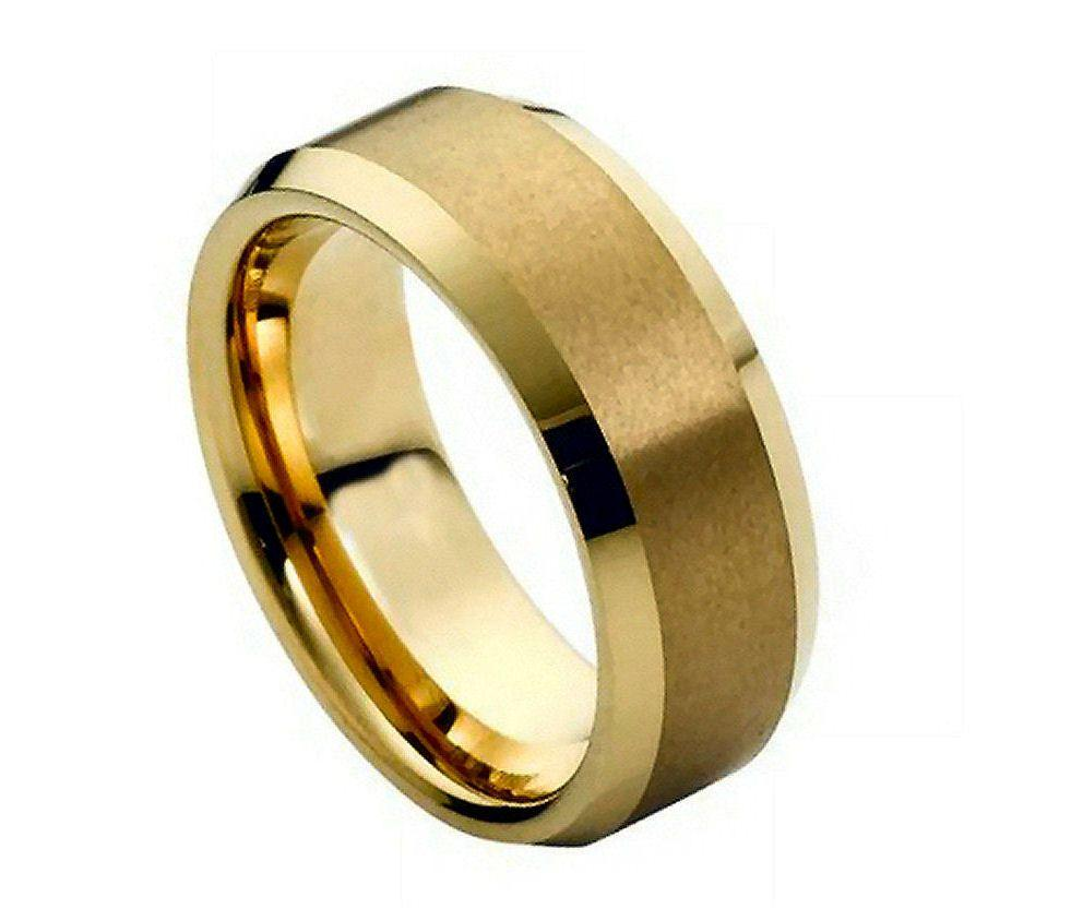 Black Tungsten Carbide Wedding Band Ring Mens Jewelry Comfort Fit Brushed Cen