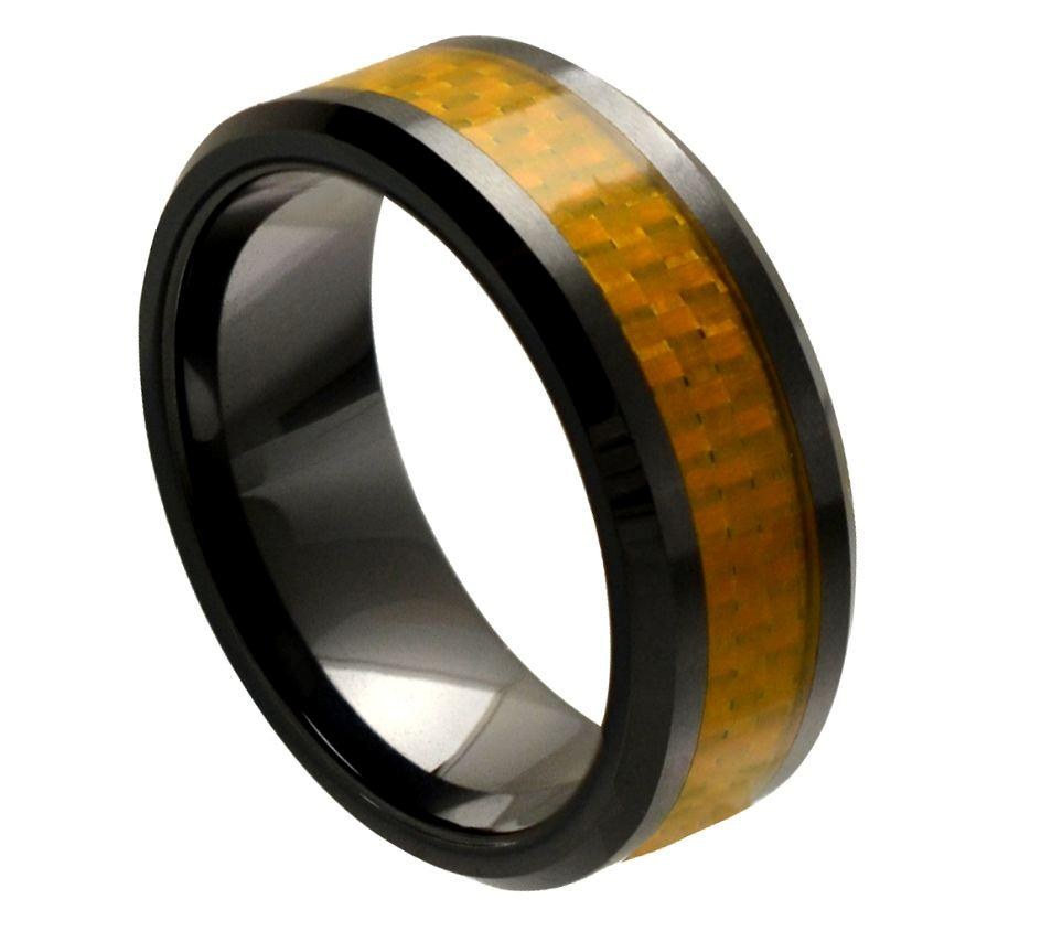 about Men's Ceramic Wedding Ring Classic Comfort Fit Band New Quality ...