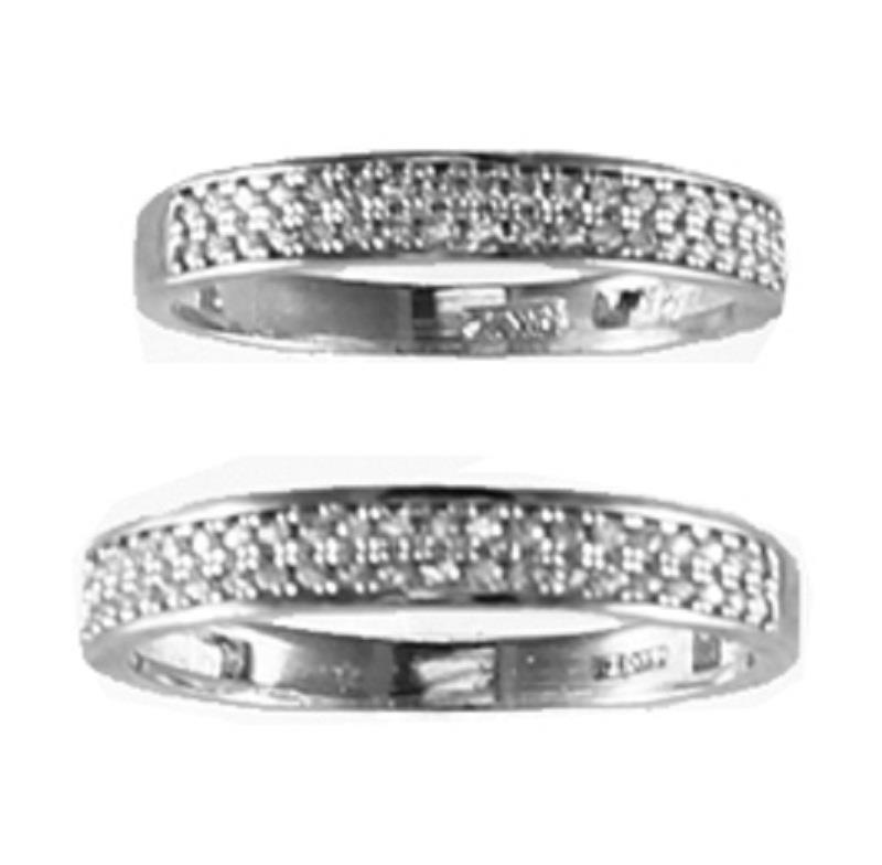 gold his 14kt solid yellow white gold cz wedding