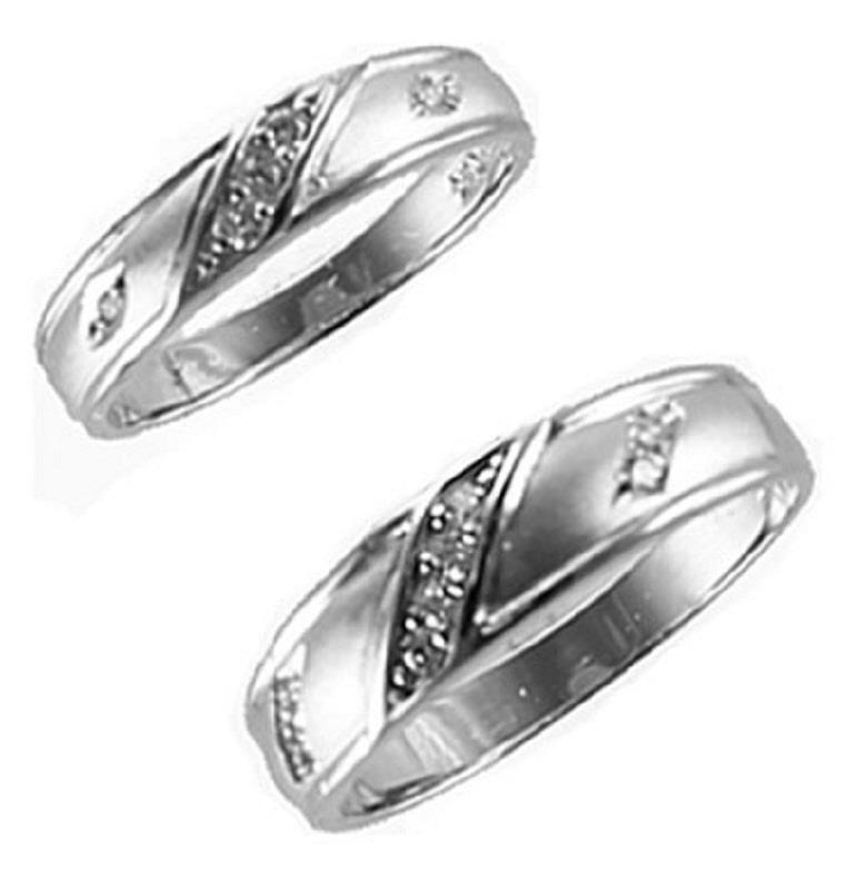 14kt solid tricolor white gold ladies men39s wedding band for Sell wedding ring set